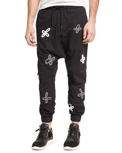 Shades of Gray Jogger Pants, Black