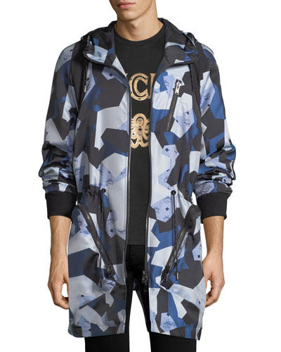 x CR Collection Visetos Jacquard Parka Jacket