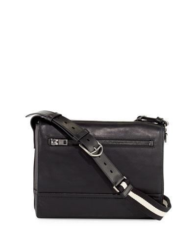 Tamrac Men's Leather Messenger Bag, Black