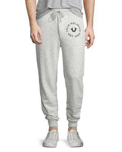 Slim-Fit Sweatpants, Heather Gray