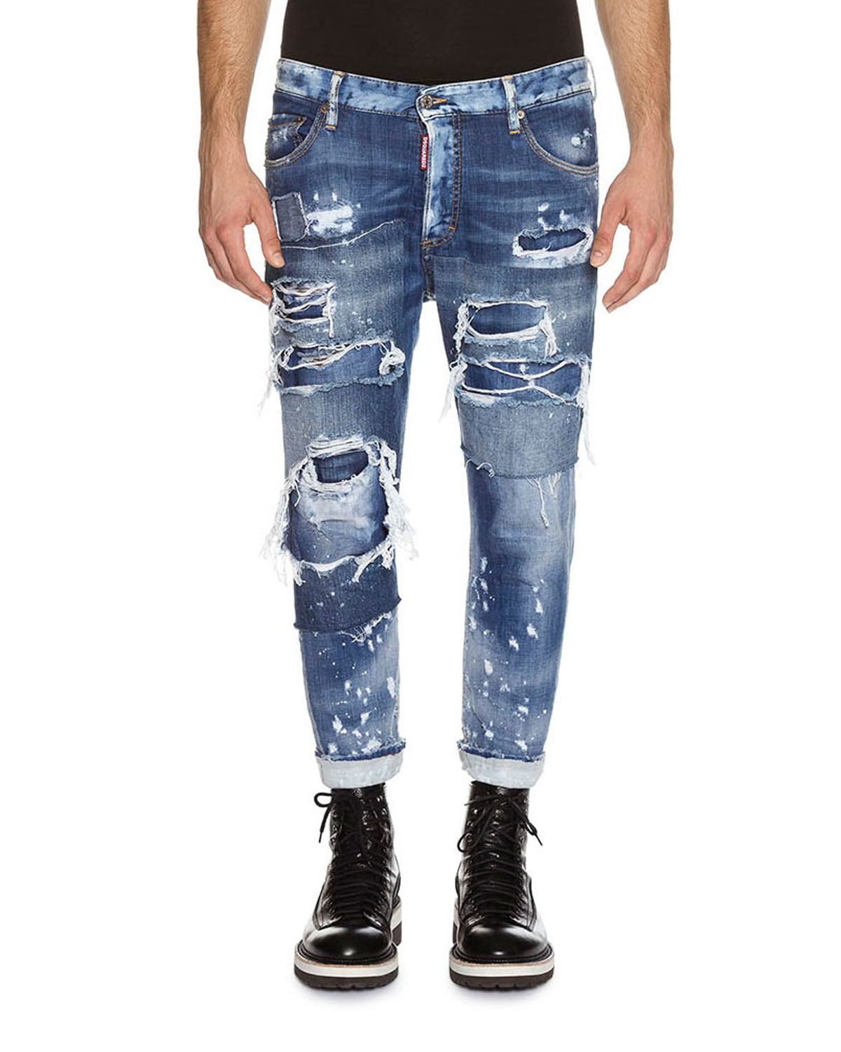 Glam Head Super Ripped Wash Jeans