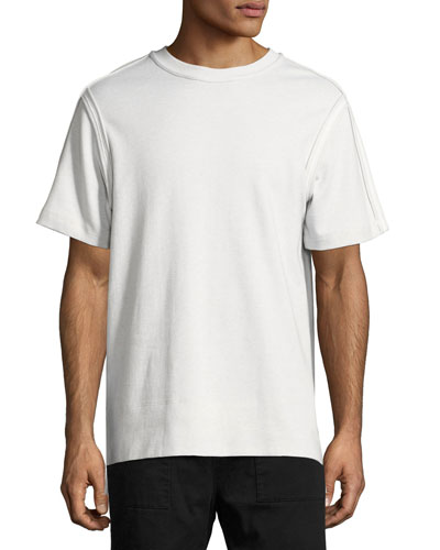 Bound Seam Jersey T-Shirt, Gray