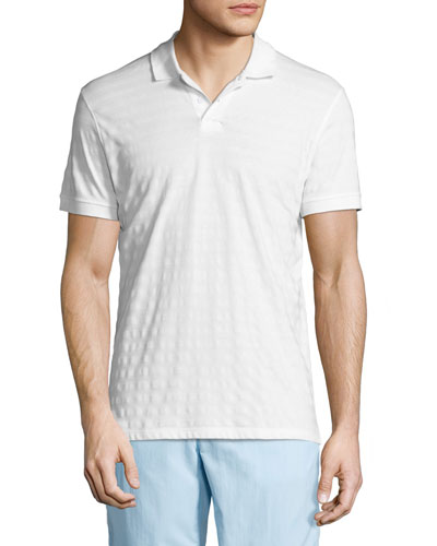 Jarret Striped Piqué Polo Shirt, White