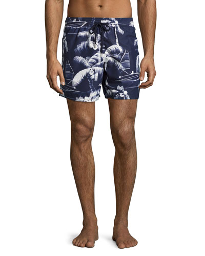 Moorea Palm Tree Swim Trunks