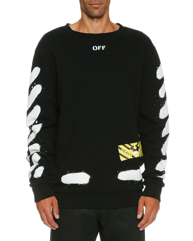 Spray-Pain Logo Sweatshirt, Black