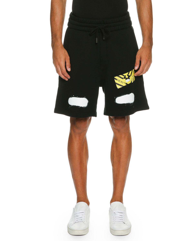 Spray-Paint Logo Sweat Shorts, Black