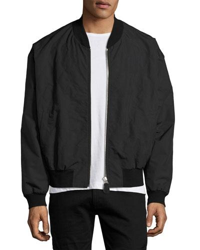 Tech Bomber Jacket, Black