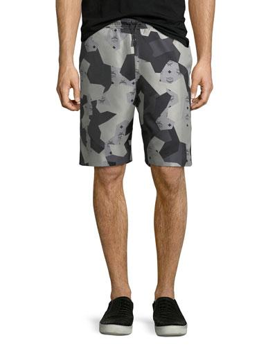 x CR Collection Camo Jacquard Shorts