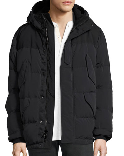Arctic Ezra Down Parka Coat, Black