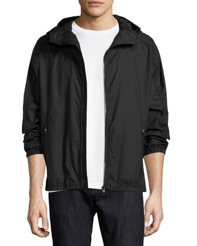 Small-Gancini Hooded Jacket, Navy