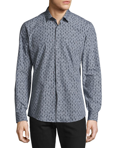 Men's Passerby Cotton Sport Shirt, Gray