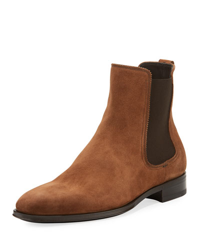 Darien Suede Chelsea Boot, Brown