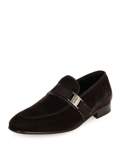 Velvet Formal Loafer, Brown