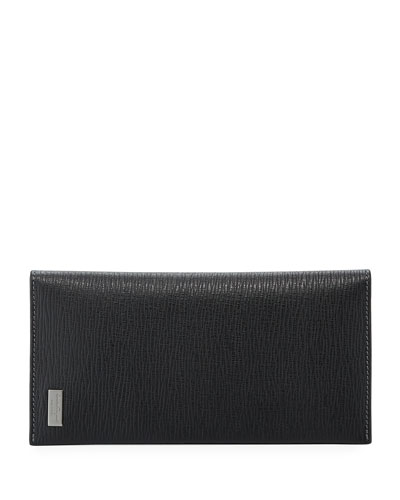 Revival Leather Breast Pocket Wallet, Black