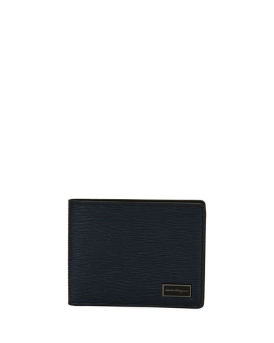 Revival Bi-Fold Leather Wallet, Blue