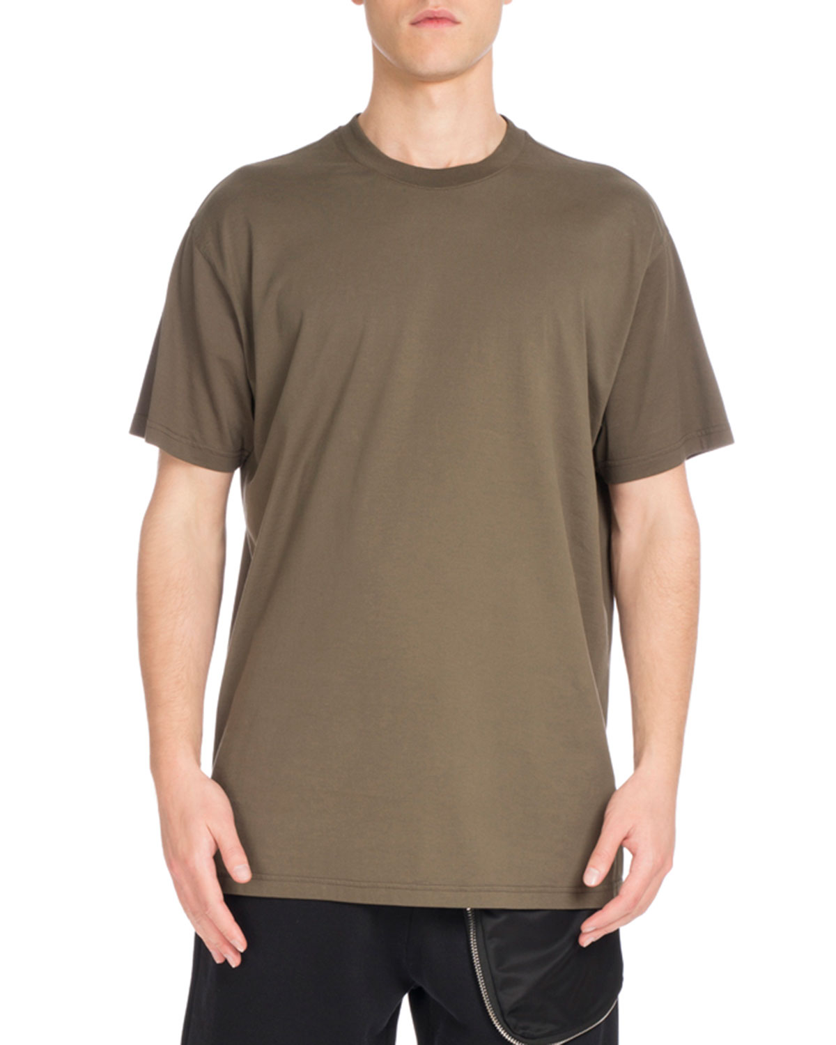 Columbian-Fit Logo-Embroidered T-Shirt, Khaki