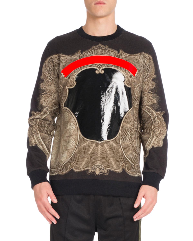Cuban-Fit Baroque Sweatshirt, Black
