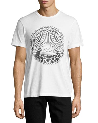 Sunburst Logo Graphic T-Shirt, White