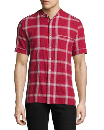 Crosby Plaid Short-Sleeve Shirt, Red