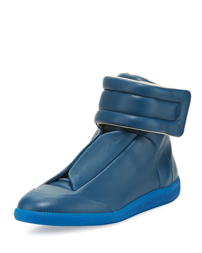 Future Leather High-Top Sneaker, Blue