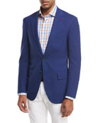 Sanita Super 170s Wool Two-Button Sport Jacket, Blue