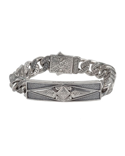 Men's Sterling Silver ID Bracelet