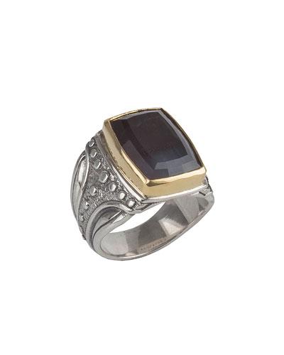 Konstantino Mens Sterling Silver & Turquoise Signet Ring bpCwYBYfqb