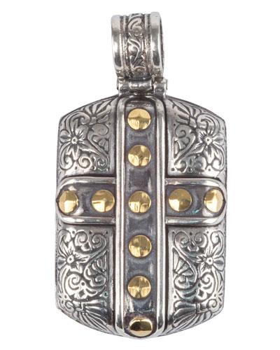 Men's Sterling Silver & 18K Gold Cross Pendant