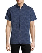 Tuscumbia Short-Sleeve Floral Cotton Shirt
