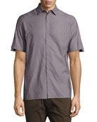Short-Sleeve Sport Shirt, Gray