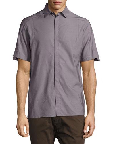 Short-Sleeve Sport Shirt, Gray
