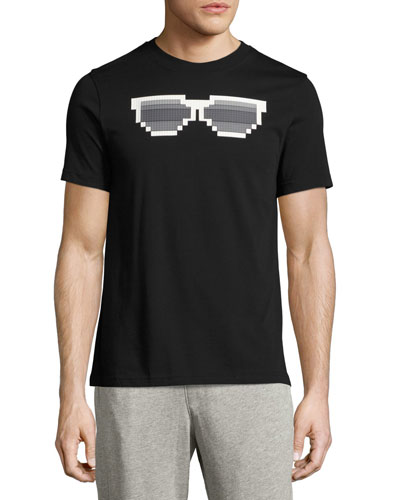 Shady 8-Bit Sunglasses Graphic T-Shirt, Black