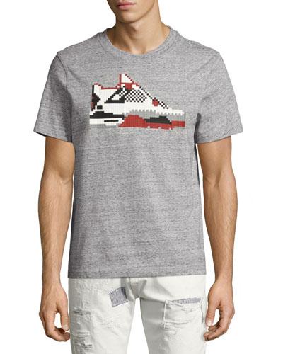 Infrared Sneaker T-Shirt, Gray