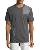 Tonal Patchwork T-Shirt, Gray