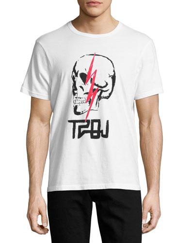 Sinners & Saints Skull T-Shirt, White