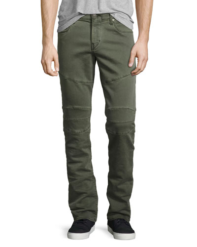 Rocco Skinny Twill Biker Pants, Militant Green