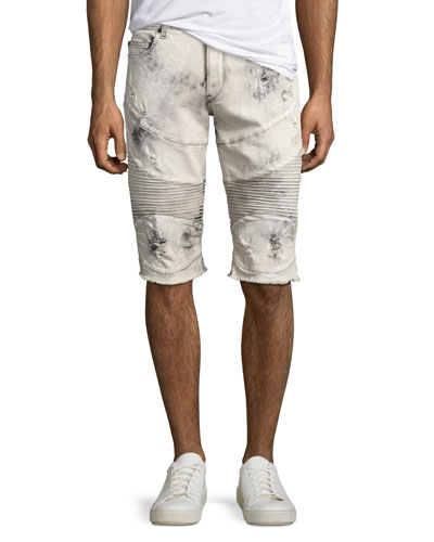 Geno Moto Distressed Denim Cutoff Shorts, Bronx