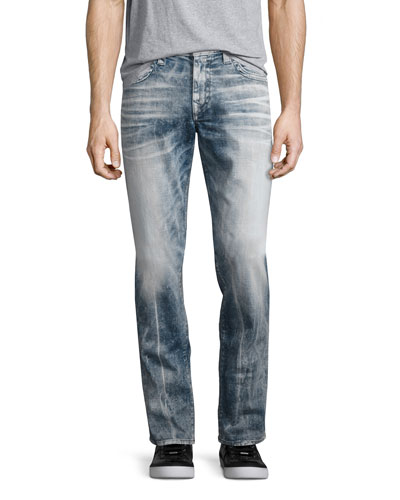Rocco Flap-Pocket Skinny Jeans, Faded Galaxy