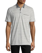Striped Cotton Jersey Polo-Shirt