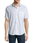 Striped Short-Sleeve Cotton Shirt