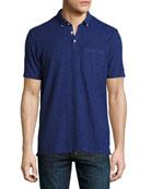 Slub Jersey Pocket Polo Shirt, Blue