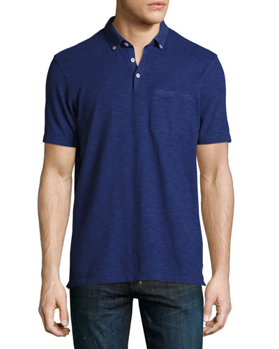 Slub Jersey Pocket Polo Shirt, Blue