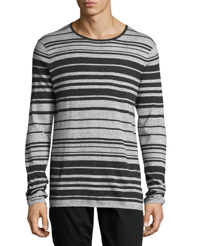 Jasper Long-Sleeve Striped T-Shirt, Multi