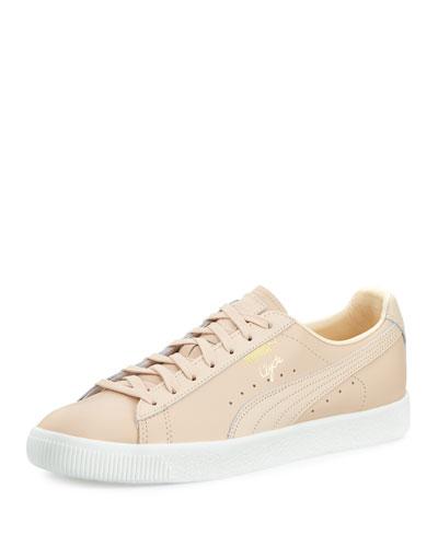 Men's Clyde Leather Low-Top Sneaker, Natural (Tan)