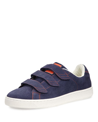 Men's Basket Corduroy Low-Top Sneaker, Navy