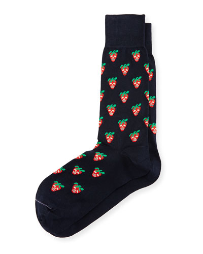 Mini Strawberry Skull Socks