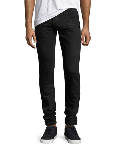 Skinny Moto Jeans, Black