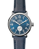 Shinola Men's 41mm Runwell Watch, Midnight Blue/Ocean