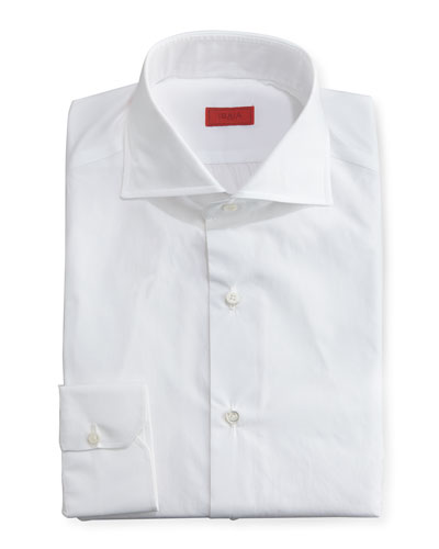 Slim Solid Dress Shirt, White