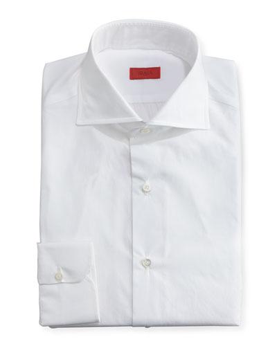 Slim Solid Dress Shirt, White